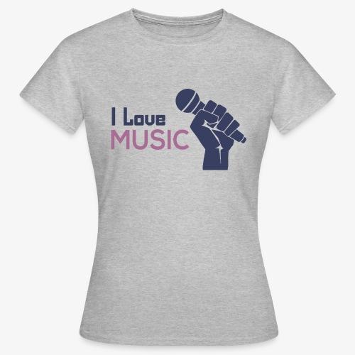 Amo la música - Camiseta mujer