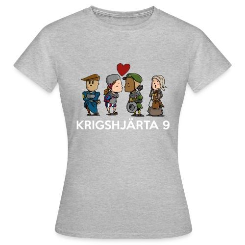 Deltagartröja vit text - T-shirt dam