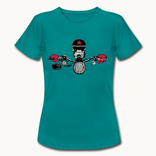 Motard Micky on the Road - T-shirt Femme