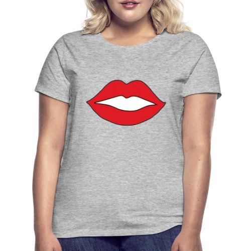 Rote Lippen Mund - Frauen T-Shirt