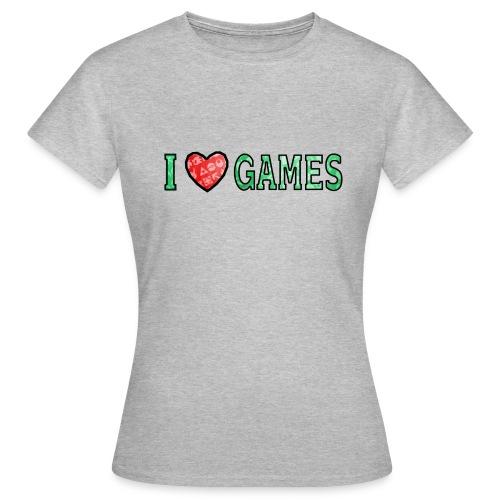 I Love Games - Koszulka damska