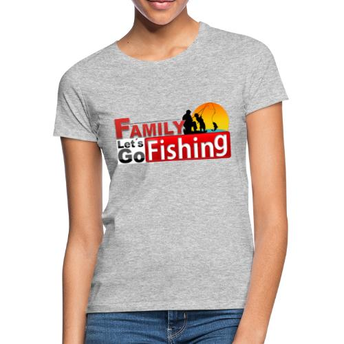 FAMILY LET´S GO FISHING FONDO - Camiseta mujer
