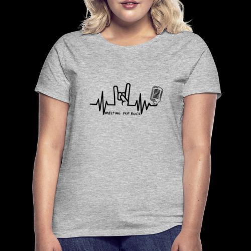 Logo noir Melting Pop Rock - T-shirt Femme