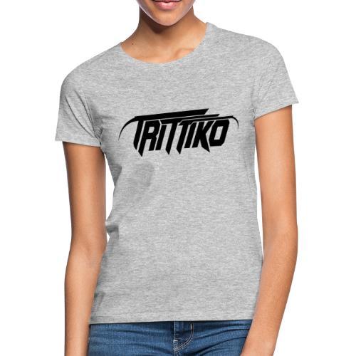 Trittiko Logo Schwarz - Frauen T-Shirt