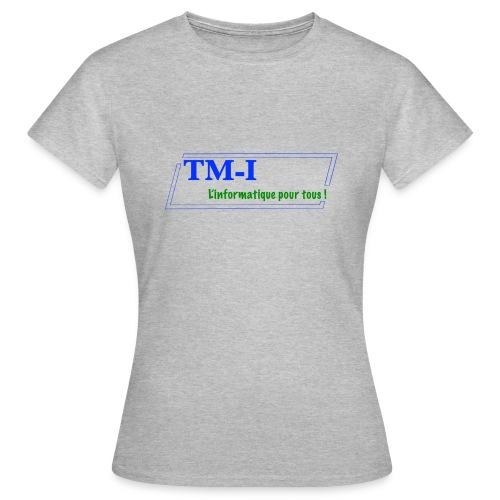 logo touletmarc.info + slogans - T-shirt Femme