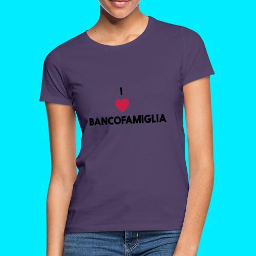 BANCOFAMIGLIA CuoreNera - Maglietta da donna