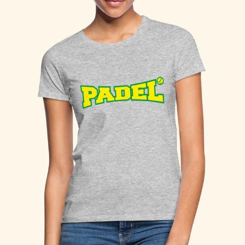 padel amarillo y verde - Camiseta mujer