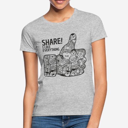 like social media share - Frauen T-Shirt