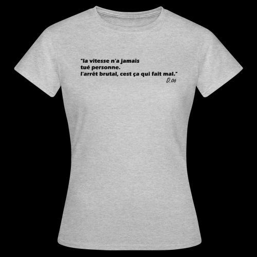 vitesse (noir) - T-shirt Femme