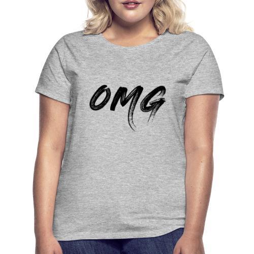 OMG, musta - Naisten t-paita