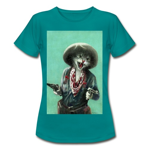 Vintage kitten Cow Girl - Women's T-Shirt