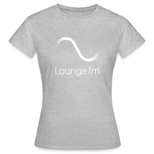 loungefm logo weiss - Frauen T-Shirt