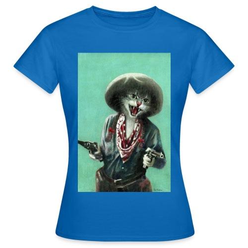 Vintage kitten Cow Girl - Women's T-Shirt