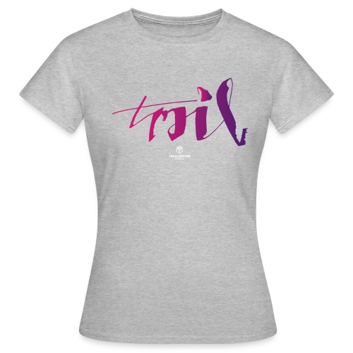 trail_brush_lady - Frauen T-Shirt