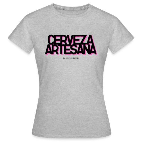 Cerveza Artesana Negra y Rosa - Camiseta mujer