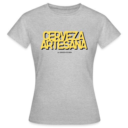 Cerveza Artesana Amarillo y Negro - Camiseta mujer