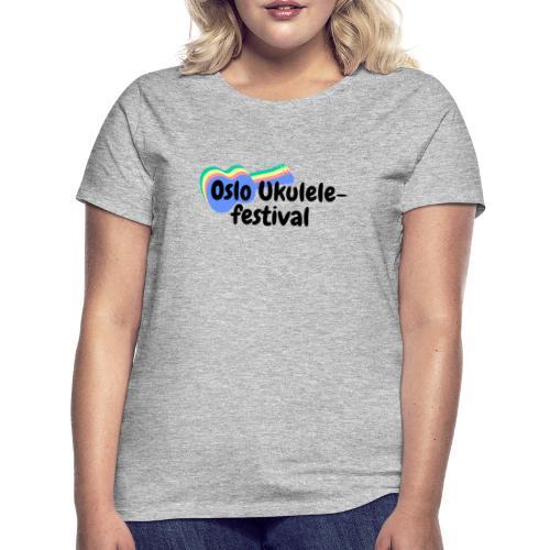 Festival-logo i flere farger - T-skjorte for kvinner