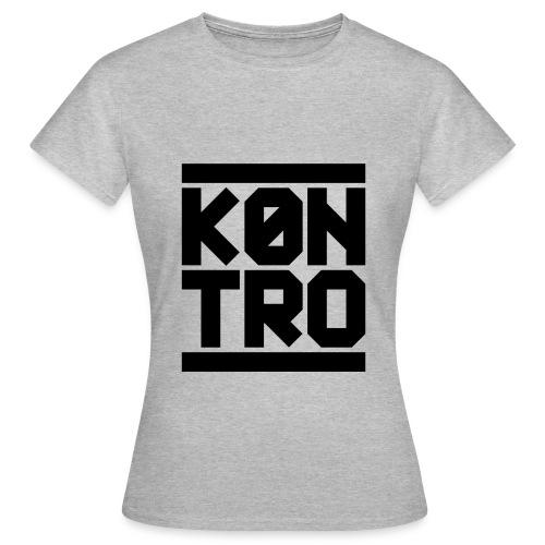 KONTRO Black Logo - Naisten t-paita