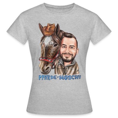 Pferde-Hoschi Kollektion hinten - Frauen T-Shirt