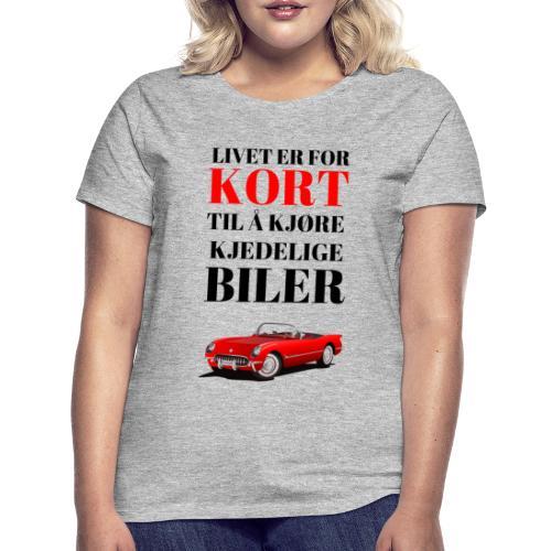 Bilinteressert - T-skjorte for kvinner