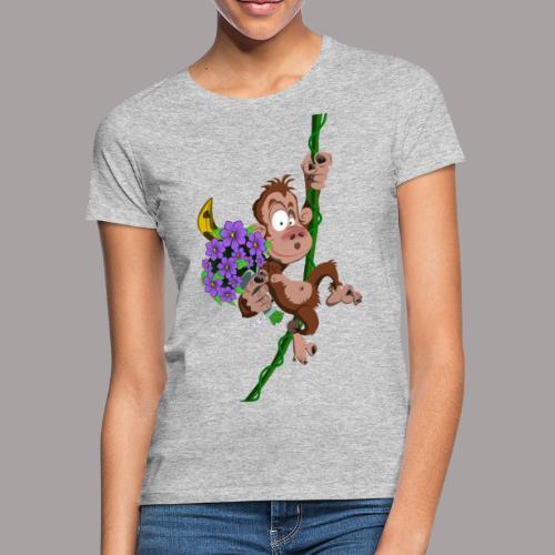 bouquet de fleurs - singe - T-shirt Femme