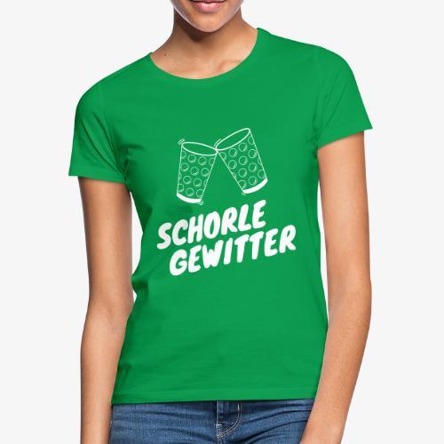 Schorlegewitter - Dubbeglas - Weinschorle - Pfalz - Frauen T-Shirt