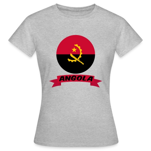 flag of Angola t shirt design ribbon banner - Maglietta da donna