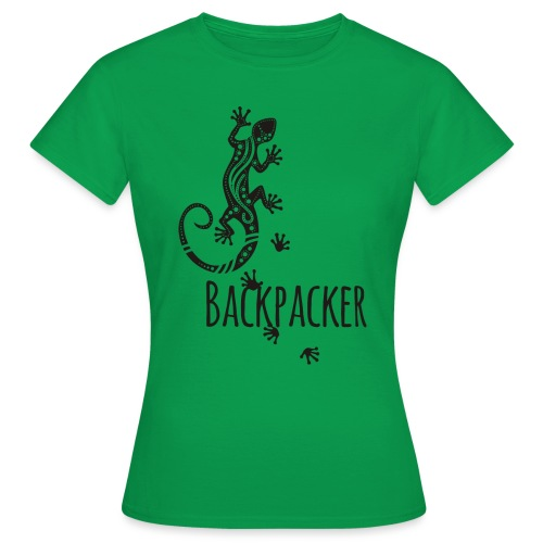 Backpacker - Running Ethno Gecko 1 - Frauen T-Shirt