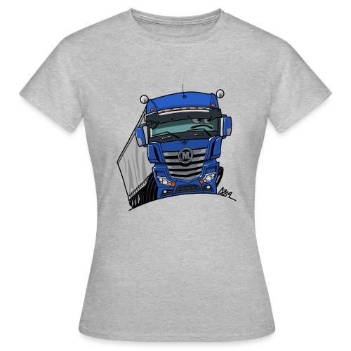 0807 M truck blauw trailer - Vrouwen T-shirt