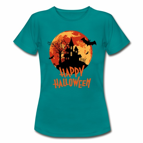 Bloodmoon Haunted House Halloween Design - Frauen T-Shirt