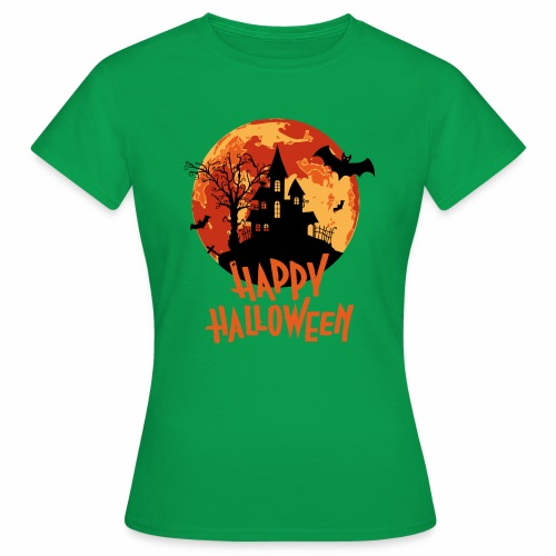 Bloodmoon Haunted House Halloween Design - Frauen T-Shirt