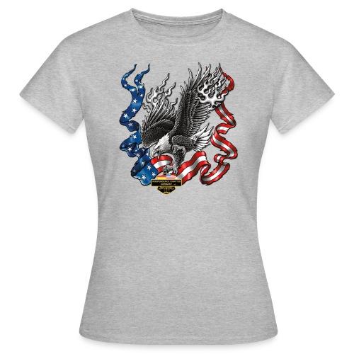 american eagle schrift gross - Frauen T-Shirt