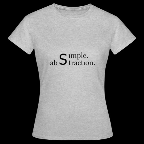 simple. abstraction. logo - Frauen T-Shirt