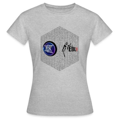 disen o dos canales cubo binario logos delante - Women's T-Shirt