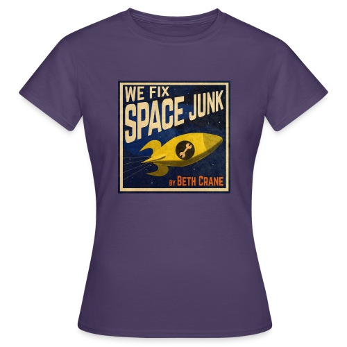 We Fix Space Junk logo (square) - Women's T-Shirt