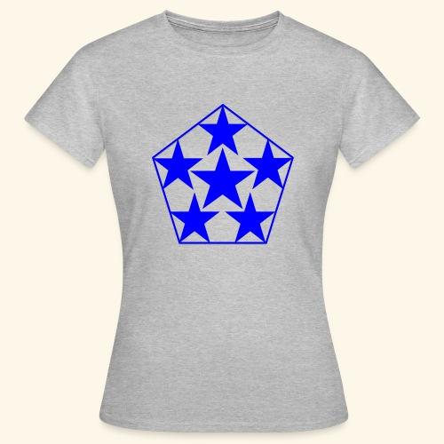 5 STAR Sterne blau - Frauen T-Shirt