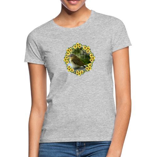 Vögelchen im Blumenkranz - Frauen T-Shirt