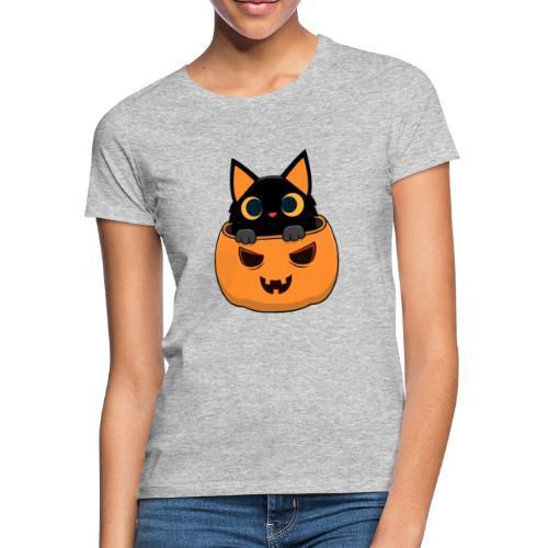 Halloween Katze Kürbis - Frauen T-Shirt
