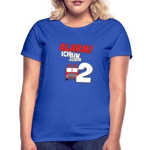Feuerwehrauto 2. Geburtstag Jungen 2 Jahre - Frauen T-Shirt