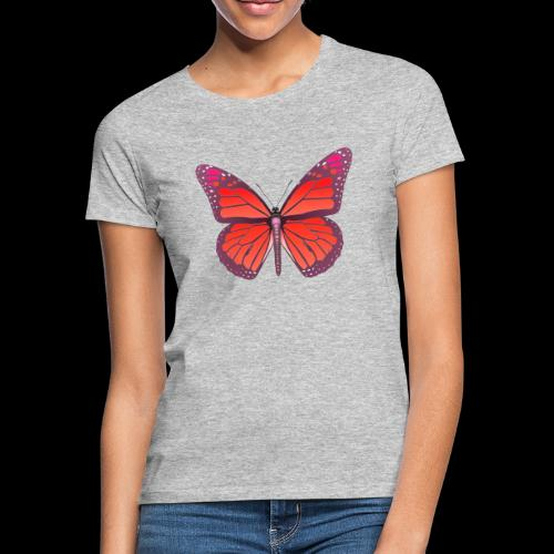 D28 monarch butterfly red lajarindream 4500px - Camiseta mujer