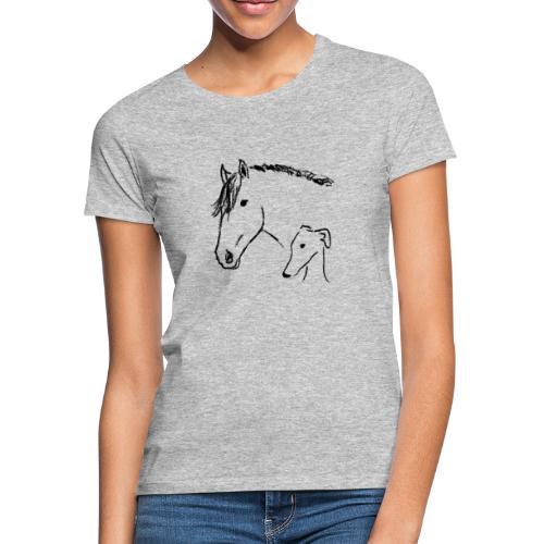 Windhund und Pferd - Frauen T-Shirt