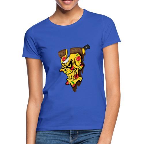 Pizza Schädel mit Messer - Frauen T-Shirt