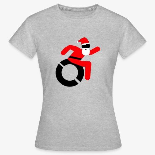 Kerstman in een rolstoel, speciaal voor de Kerst - Vrouwen T-shirt