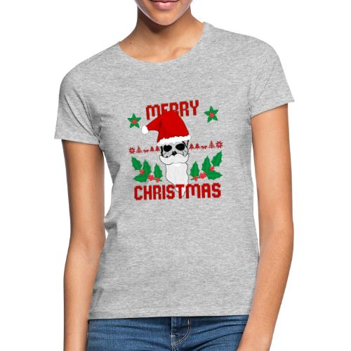 Merry Christmas Skull - Frauen T-Shirt