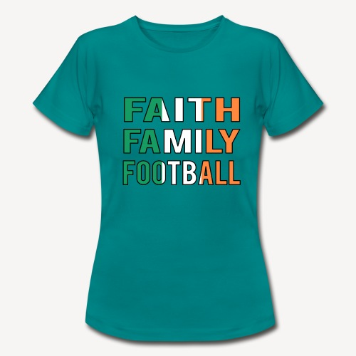 FAITH FAMILY FOOTBALL - Women's T-Shirt