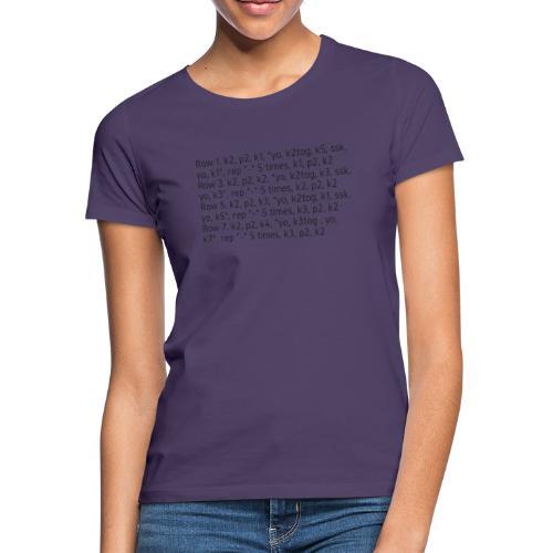 Knit Talk, dark - Women's T-Shirt