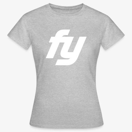 Logo Trendy Weiss - Frauen T-Shirt