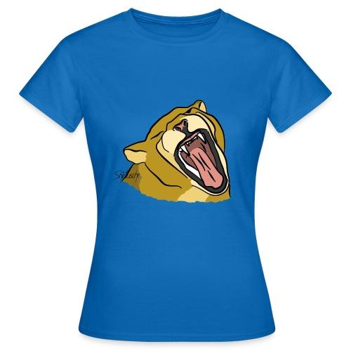 Gähnender / brüllender Löwe - Frauen T-Shirt