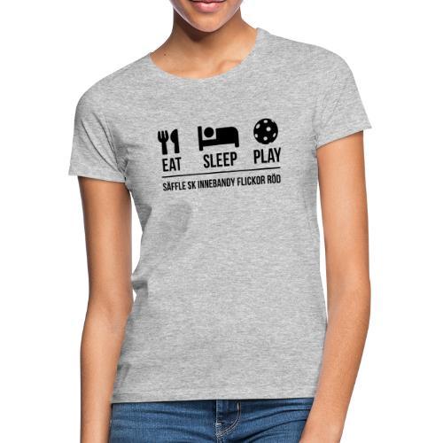 Eat Sleep Play Version 2 Säffle SK F Röd - T-shirt dam