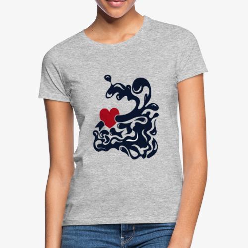 corazon splash - Camiseta mujer